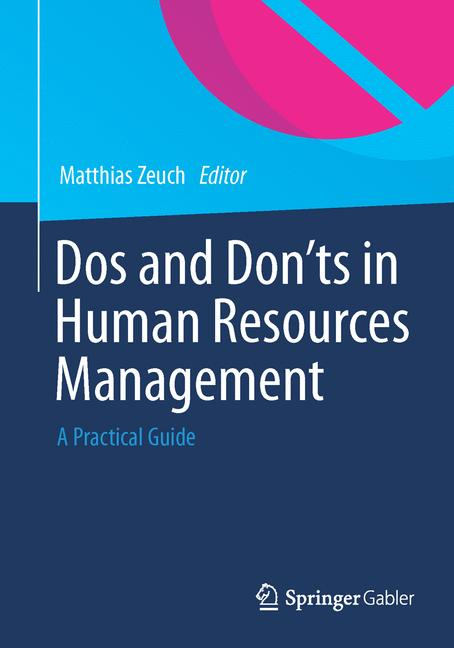 Cover of 'Dos and Don'ts in Human Resources Management'