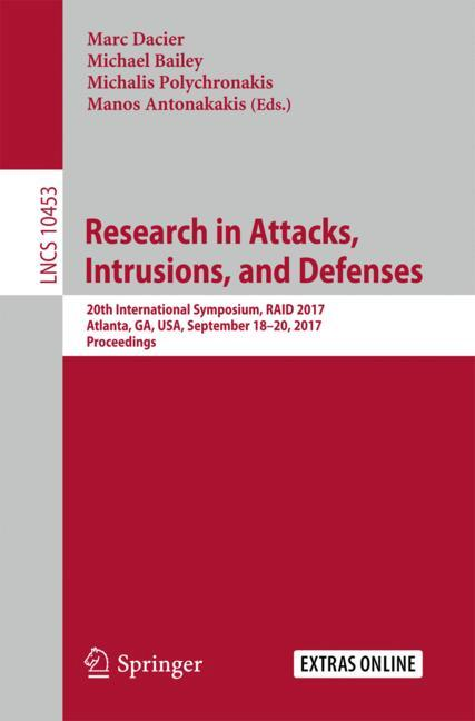 Cover of 'Research in Attacks, Intrusions, and Defenses'