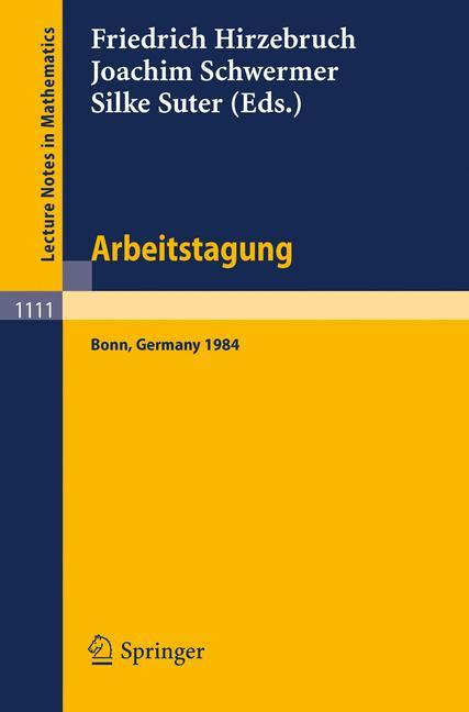 Cover of 'Arbeitstagung Bonn 1984'