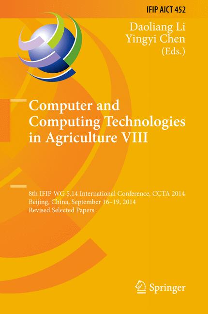 Cover of 'Computer and Computing Technologies in Agriculture VIII'
