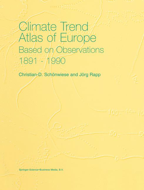 Cover of 'Climate Trend Atlas of Europe Based on Observations 1891–1990'