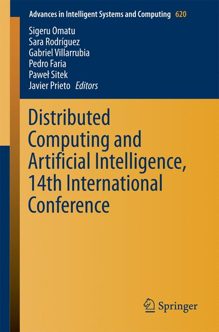 Cover of 'Distributed Computing and Artificial Intelligence, 14th International Conference'