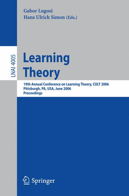 Cover of 'Learning Theory'