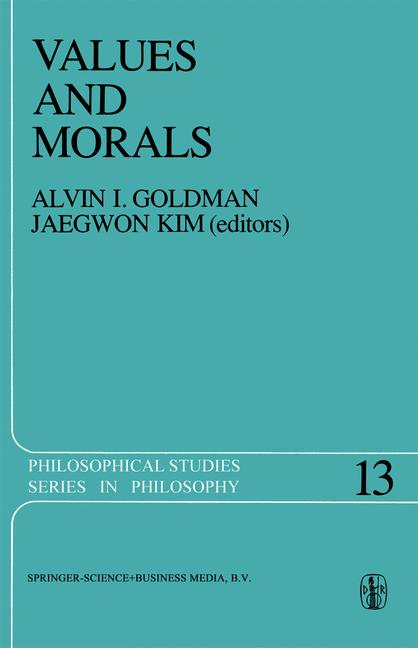 Cover of 'Values and Morals'