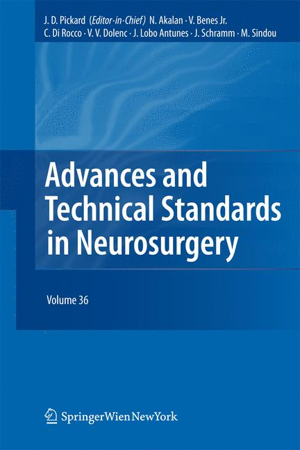 Cover of 'Advances and Technical Standards in Neurosurgery'