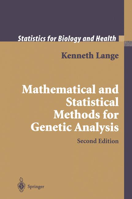Cover of 'Mathematical and Statistical Methods for Genetic Analysis'