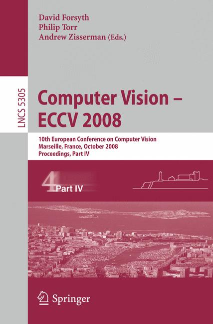 Cover of 'Computer Vision – ECCV 2008'