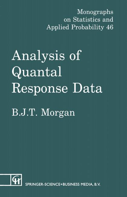 Cover of 'Analysis of quantal response data'