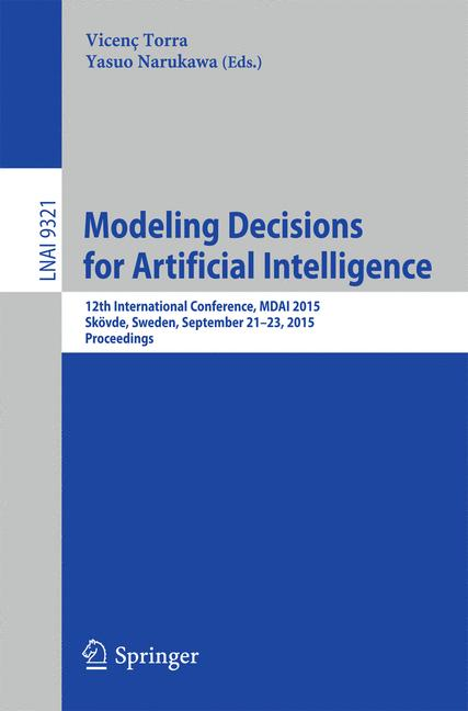 Cover of 'Modeling Decisions for Artificial Intelligence'