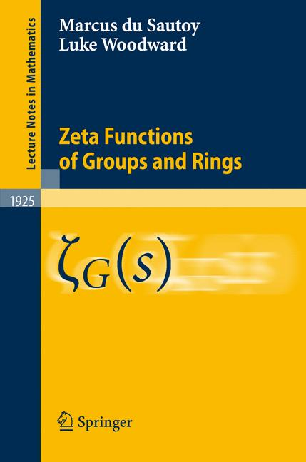 Cover of 'Zeta Functions of Groups and Rings'