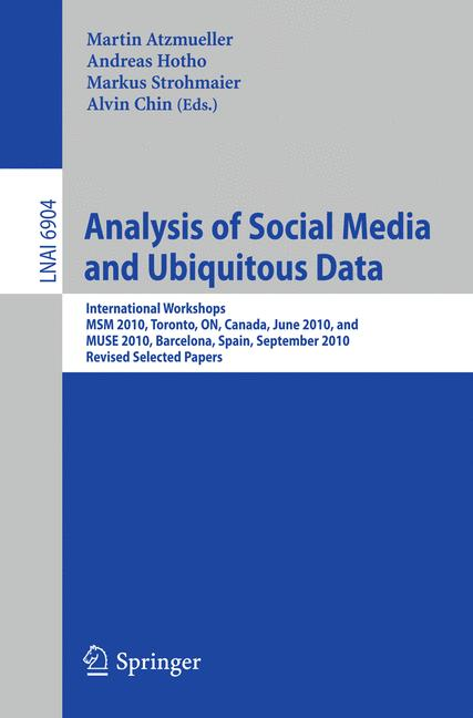 Cover of 'Analysis of Social Media and Ubiquitous Data'