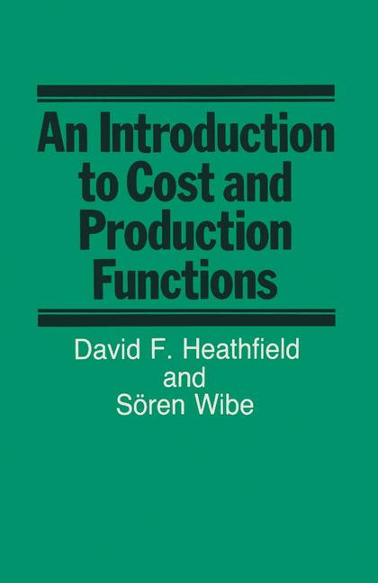 Cover of 'An introduction to cost and production functions'