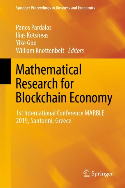 Cover of 'Mathematical Research for Blockchain Economy'