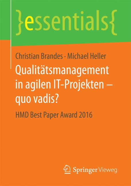 Cover of 'Qualitätsmanagement in agilen IT-Projekten – quo vadis?'
