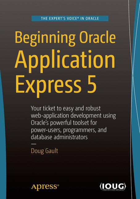 Cover of 'Beginning Oracle Application Express 5'