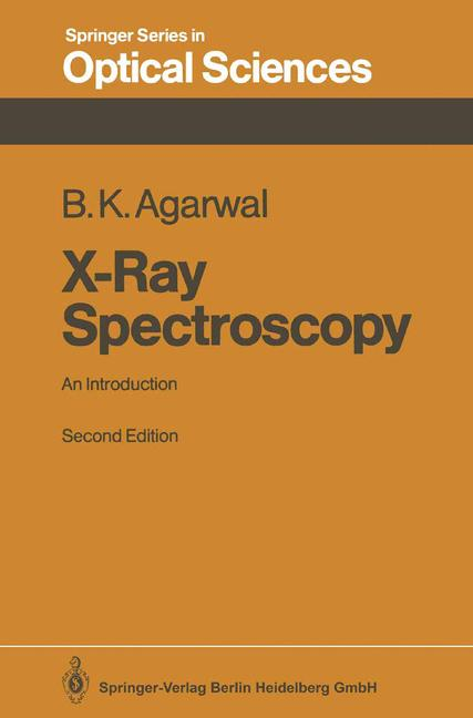 Cover of 'X-Ray Spectroscopy : An Introduction'