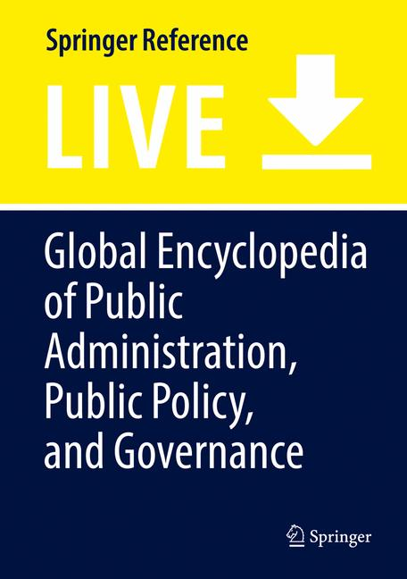 Cover of 'Global Encyclopedia of Public Administration, Public Policy, and Governance'