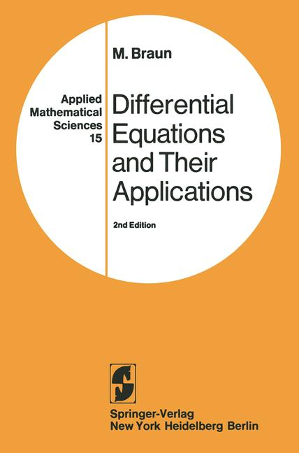 Cover of 'Differential equations and their applications : an introduction to applied mathematics'