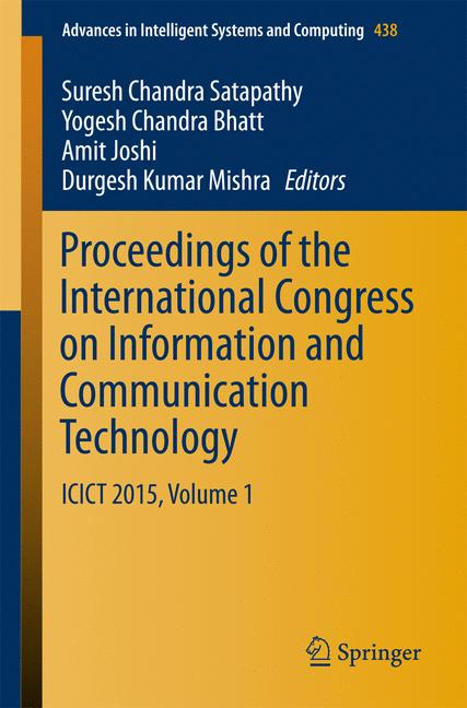 Cover of 'Proceedings of the International Congress on Information and Communication Technology'