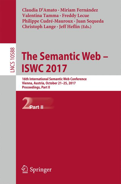 Cover of 'The Semantic Web – ISWC 2017'