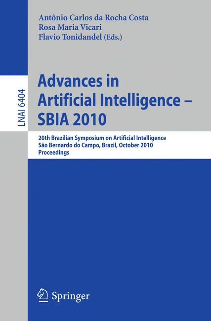 Cover of 'Advances in Artificial Intelligence – SBIA 2010'