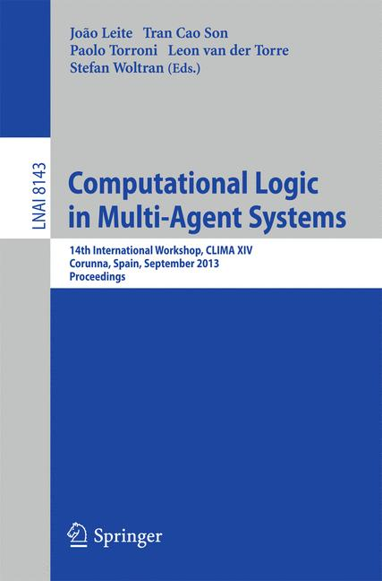 Cover of 'Computational Logic in Multi-Agent Systems'