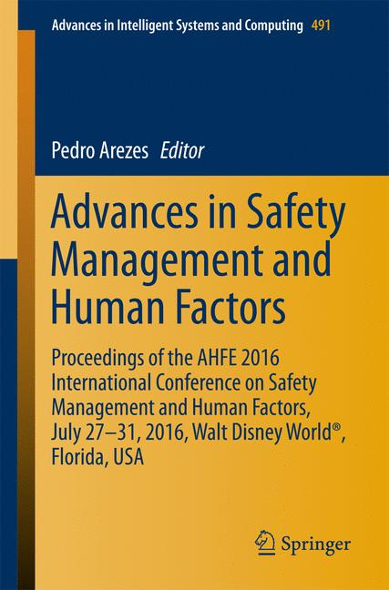 Cover of 'Advances in Safety Management and Human Factors'