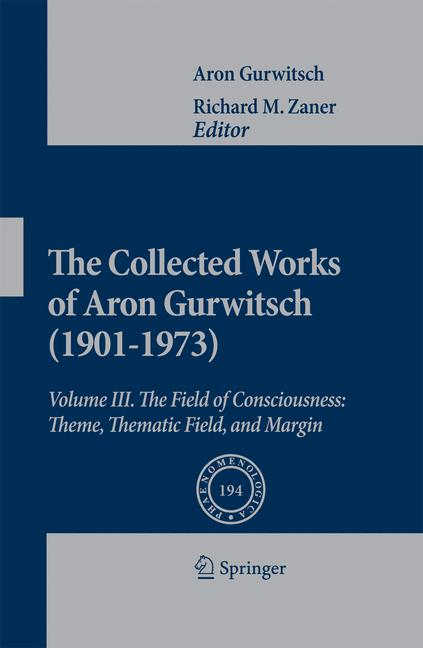 Cover of 'The Collected Works of Aron Gurwitsch (1901-1973)'