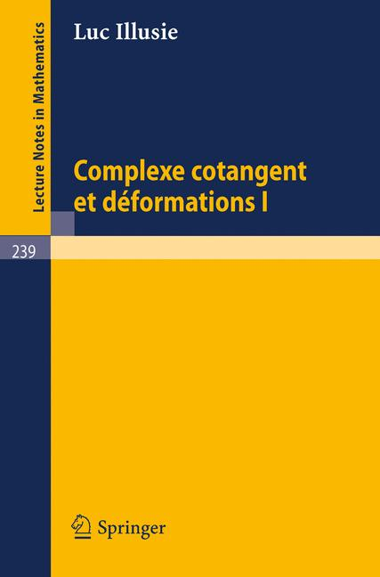 Cover of 'Complexe Cotangent et Déformations I'