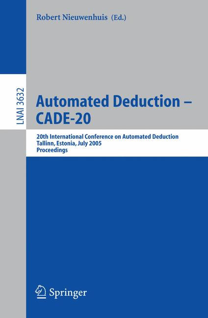 Cover of 'Automated Deduction – CADE-20'