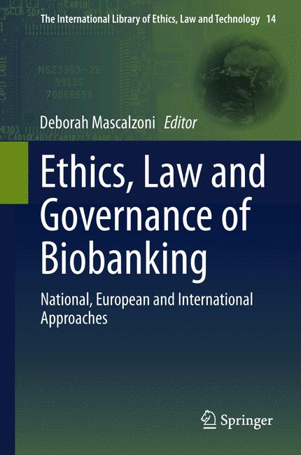 Cover of 'Ethics, Law and Governance of Biobanking'
