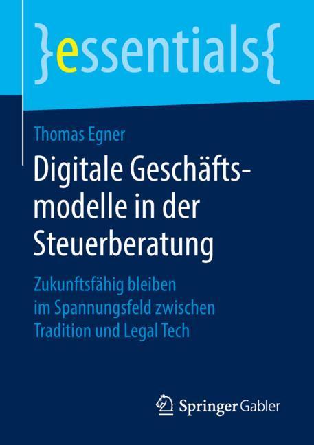 Cover of 'Digitale Geschäftsmodelle in der Steuerberatung'