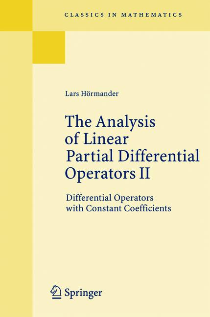 Cover of 'The Analysis of Linear Partial Differential Operators II'