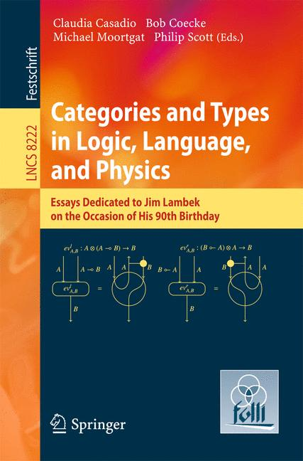 Cover of 'Categories and Types in Logic, Language, and Physics'
