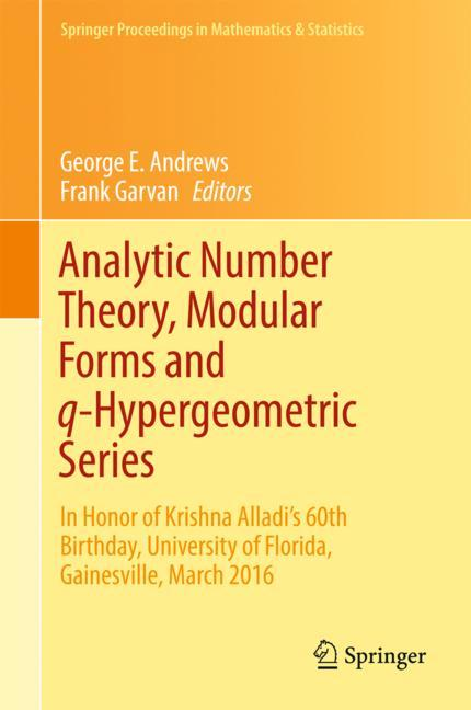 Cover of 'Analytic Number Theory, Modular Forms and q-Hypergeometric Series'