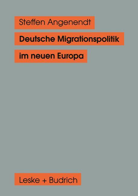 Cover of 'Deutsche Migrationspolitik im neuen Europa'