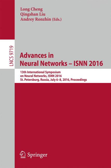 Cover of 'Advances in Neural Networks – ISNN 2016'