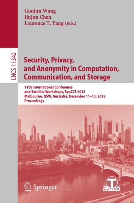 Cover of 'Security, Privacy, and Anonymity in Computation, Communication, and Storage'
