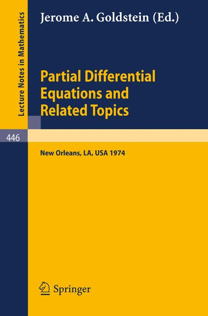 Cover of 'Partial Differential Equations and Related Topics'