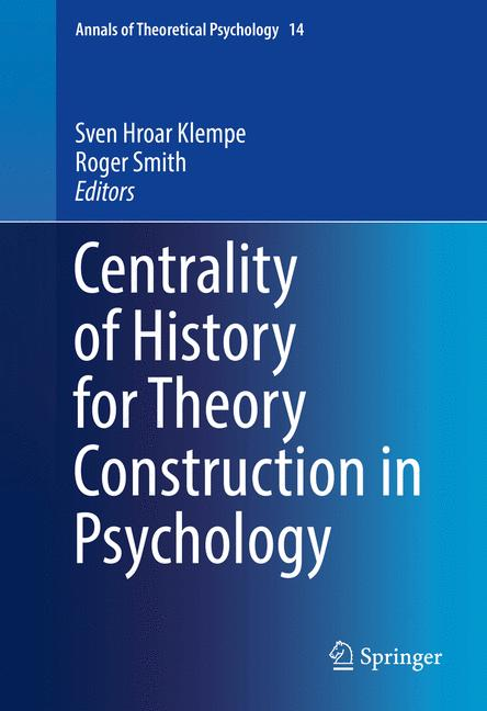 Cover of 'Centrality of History for Theory Construction in Psychology'