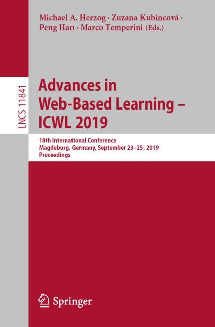 Cover of 'Advances in Web-Based Learning – ICWL 2019'