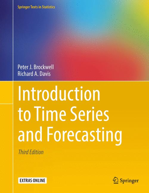Cover of 'Introduction to Time Series and Forecasting'