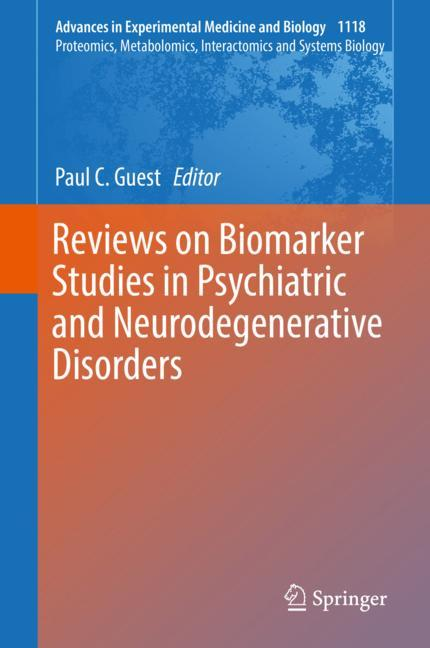 Cover of 'Reviews on Biomarker Studies in Psychiatric and Neurodegenerative Disorders'