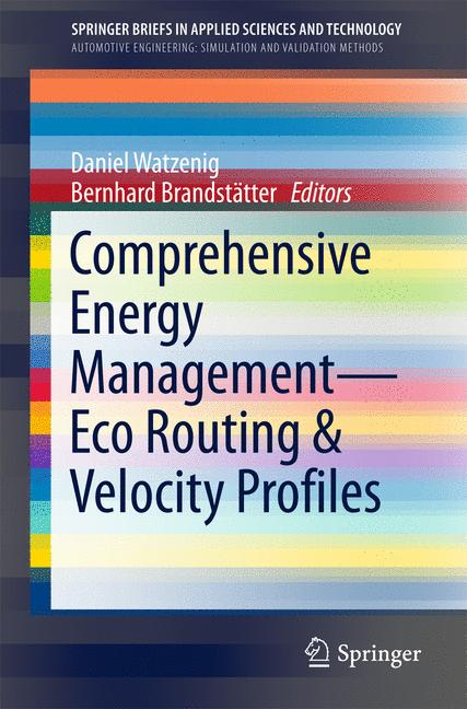 Cover of 'Comprehensive Energy Management – Eco Routing & Velocity Profiles'