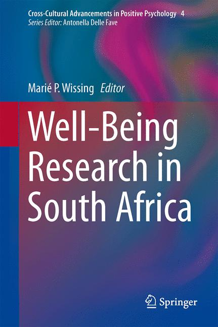 Cover of 'Well-Being Research in South Africa'
