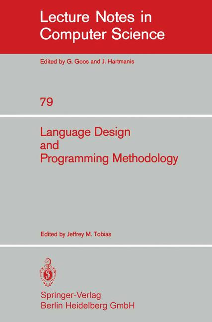 Cover of 'Language Design and Programming Methodology'