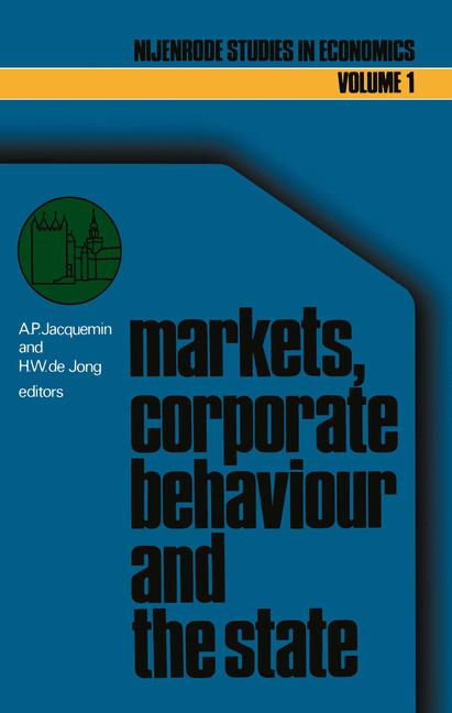 Cover of 'Markets, corporate behaviour and the state'