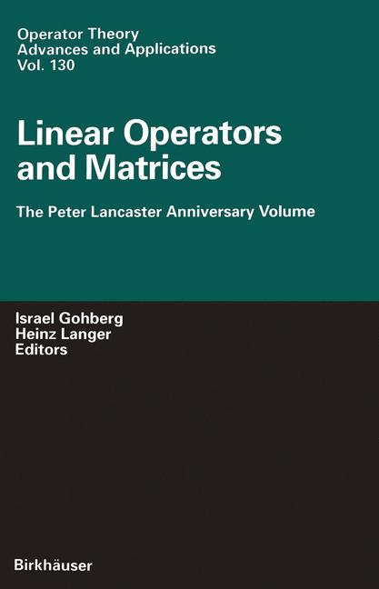 Cover of 'Linear Operators and Matrices'