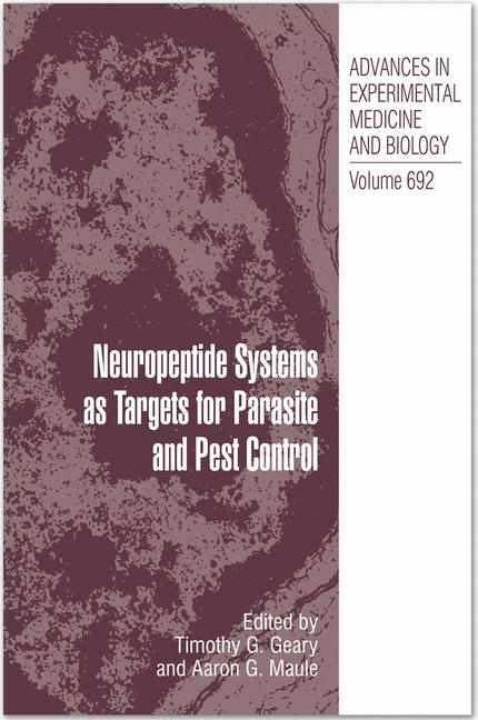 Cover of 'Neuropeptide receptors as possible targets for development of insect pest control agents.'