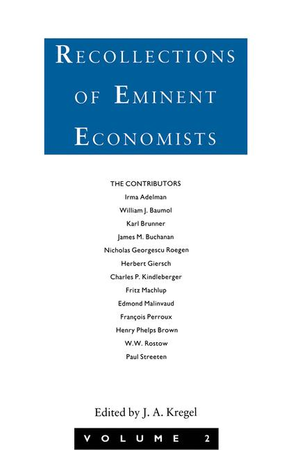 Cover of 'Recollections of Eminent Economists'